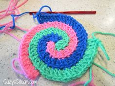spiral crochet pattern