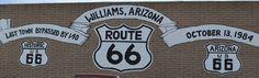 Getting my kicks on Route 66, in Williams, Arizona.