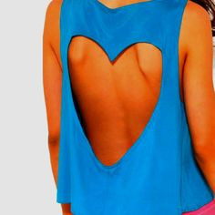 I like the heart, too bad you can't wear a bra with it. Cute but not practical, incomplete design.