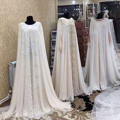 No photo description available. Wedding Abaya, Muslimah Wedding Dress, Muslim Wedding Dresses, Hijabi Wedding, Bridal Dresses, Hijab Gown, Hijab Dress Party, Abaya Mode, Mode Hijab
