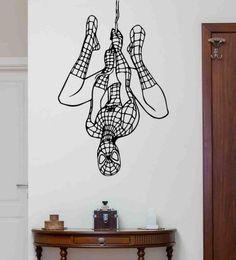 Vinyl Wall Decals, Wall Stickers, Superhero Boys Room, Spiderman Wall Decals, Wall Art Designs, Bedroom Designs, Kids Room Wall Art, Kids Poster, Graffiti