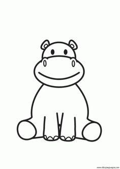 Coloring page Hippopoamus is part of Hippo drawing - Cute Hippo, Baby Hippo, Coloring Book Pages, Coloring Sheets, Doodle Art, Hippo Drawing, Tier Zoo, Baby Posters, Cute Easy Drawings