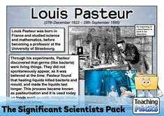 Investigate significant scientists from around the world with our bumper pack! It includes posters to use for reference and display, templates for your children to record information about other scientists, and more! Louis Pasteur, Scientists, Investigations, Mathematics, Professor, How To Become, Packing, Science, Posters