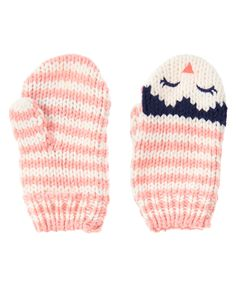 Striped Penguin Mittens at Gymboree