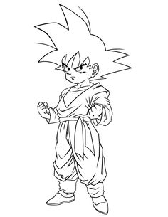 Dragon Ball Z Krillin Coloring Page | Coloring pages | Pinterest ...