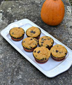 Pumpkin Chocolate Chip Muffin recipe with Cheesecake swirl #SundaySupper