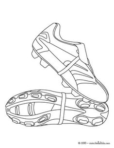 Soccer shoes coloring page. Print out and color this Soccer shoes coloring page. This Soccer . Football Coloring Pages, Sports Coloring Pages, Coloring Pages For Kids, Coloring Sheets, Coloring Books, Art Football, Soccer Art, Football Shoes, Soccer Shoes