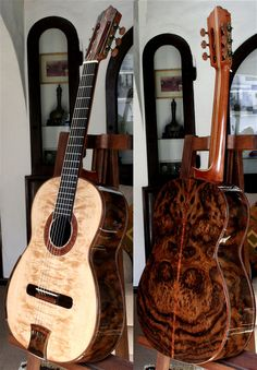 Bellucci Guitars, Amazing Brazilian rosewood Quadruple top