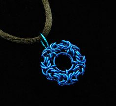 Blue+Byzantine+Coin+Chainmaille+Pendant+by+ChainedBeauty+on+Etsy,+$10.00