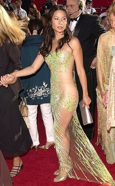 Lucy Liu in a naked dress at the 2000 Emmy Awards. You thought Kim K and J.Lo invented the naked dress? Hell, no. And neither did Lucy Liu, but we do give her props for ripping a page from Cher's '70s Bob Mackie playbook with this exquisite dress. Just imagine, there was a time when we weren't yet sick of these… (Photo: Yahoo Style)