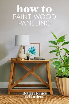 While painting paneling isn't hard to do, proper preparation is important to allow the paint to adhere well. Without taking appropriate measures, you could end up with an uneven paint job that you'll have to redo later on. Follow our step-by-step instructions for how to paint wood paneling, and get a new look in no time. #howtopaintwoodpaneling #upgradewoodpaneling #woodpanelingmakeover #paintedwoodpaneling #bhg Paint Over Wood Paneling, Wood Paneling Makeover, Shiplap Paneling, Beadboard Wainscoting, Shiplap Wood, Wood Panneling, Paneling Ideas, Painting On Wood, Painting Paneling