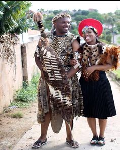 Traditional Zulu Groom And Bride.