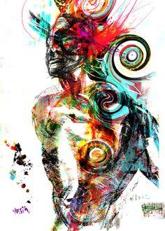 """Saatchi Online Artist yossi kotler; Mixed Media, """"stairway to heaven"""" #art"""