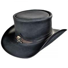 597ce972296 available at  VillageHatShop Leather Top Hat