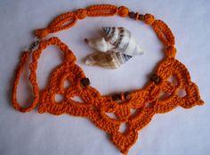 #Artesanía #complementos. #Collar en crochet de DIDIcrochet. . http://DIDIcrochet.dawanda.com