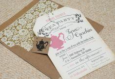 Tea Party Bridal Shower Invitation  Design Fee by beyonddesign, $30.00