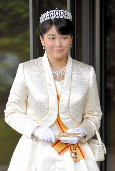 Japanese crown jewels. Princess Mako of Japan, daughter of Prince Akisino and Princess Kiko.