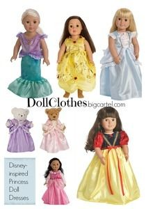 Americal Girl or My Generation Doll Princess Dress or Teddy Bear Dress up clothes. {dollclothes.bigcartelcom}