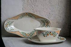 French Vintage Serving Set // Platter & Gravy by FrenchAtticFinds