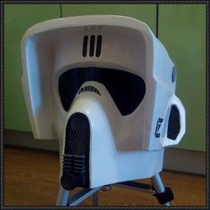 Star Wars - Scout Trooper's Helmet Free Papercraft Download - http://www.papercraftsquare.com/star-wars-scout-troopers-helmet-free-papercraft-download.html