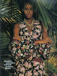 "US ELLE May 1991 ""A fresh-cut crop of soft spring flowers"" Model: Beverley Peele Photographer: Gilles Bensimon Stylist: Fanny Pagniez Source: My own scans"