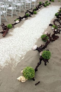 The most beautiful beach wedding I've ever seen. Beautiful ceremony #decor for a beach wedding.