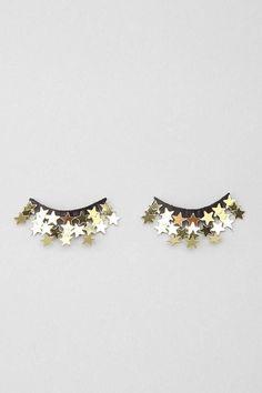 stars, eyelashes, and eyes resmi