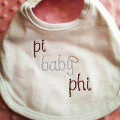 A cute bib for your little legacy!