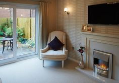 Taylor Wimpey Homes - The Aldenham at Marston Grange, Beaconside, Stafford Interior Designed Living Room Wimpey Homes, New Home Developments, Taylor Wimpey, Small Lounge, New Homes For Sale, Small Gardens, Tv Fireplace, Wimpy, Living Room