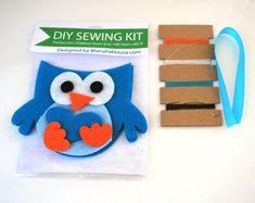 DIY kit Owl Sewing KitFelt Owl Sewing Kit Mini by Mariapalito