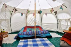Wowo Glamping, Sussex. We have two Lotus Bell tents in place in Lower Brook and Lower Moat http://www.organicholidays.co.uk/at/3184.htm