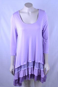 Purple Ruffle Layered Tunic - #blondellamydean #plussizefashion #plussize…