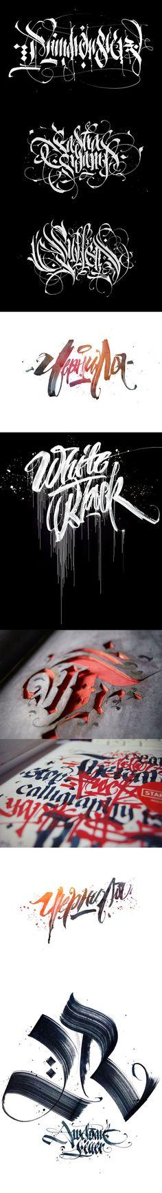 Les réalisations calligraphiques de Pokras Lampas sont simplement à tomber. Beaucoup d'autres sont à découvrir sur le Behance.
