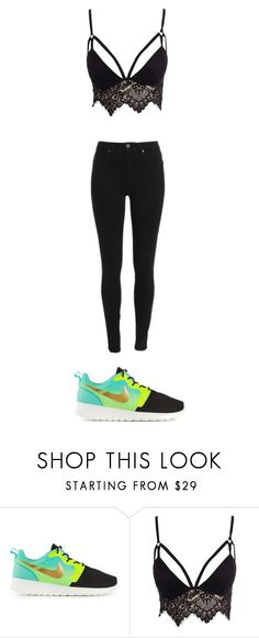 """Untitled #872"" by qveenkyndall16 ❤ liked on Polyvore featuring NIKE and Club L"