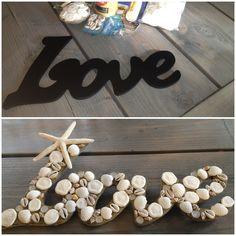 Beach Wedding Decor- Seashell Love Sign