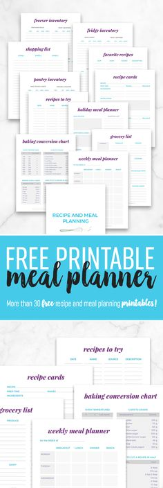Free Printables Archives Neat House Sweet Home™ Meal planner - food inventory template