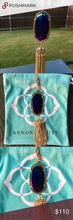 New Kendra Scott Black Iridescent Rayne New Kendra Scott Black Iridescent Rayne. It is in perfect condition. I will ship it very carefully. Includes dust bag! Super cute on! It is very rare and hard to find! I ship same or next day! Make an offer :) Kendra Scott Jewelry Necklaces
