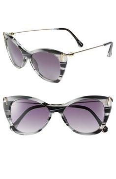 Nordstrom Anniversary Sale, July 2013, Elizabeth and James 'Fillmore' 52mm Cat's Eye Sunglasses, Grey Horn/Shiny Black, Sale: $129.90, After Sale: $195.00, Item #665903