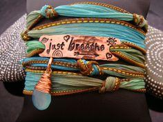 Just Breathe silk Wrap Bracelet