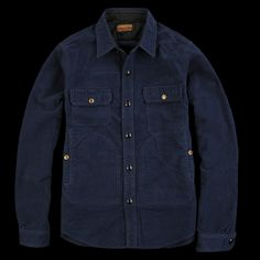 UNIONMADE - Journal Standard - Cotton Suede Hunting CPO Shirt Jacket in Navy