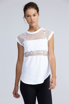 Strand White Technical Tee | Summer Must Haves | Features | Bandier