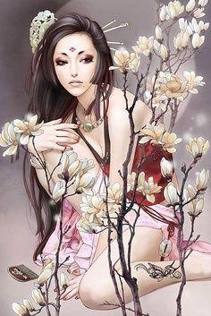 art work by Zhang Xiao Bai   / http://www.oeil-de-myria-moon.net/WANMEISHALA.html