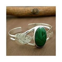 Shop for Sterling Silver 'Ivy' Malachite Cuff Bracelet (India). Get free shipping at Overstock.com - Your Online World Jewelry Outlet Store! Get 5% in rewards with Club O!