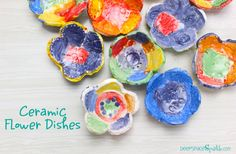 While two of my Kinder classes (ages 5-6) created Ceramic Fish Dishes, my other Kinders created beautiful flower dishes. The children used the same steps to create their flower dishes using the same clay and underglazes. There have been lots of suggestions from readers to try different glazes for ceramic projects and I have to …