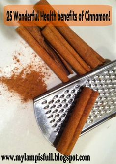 My Lamp is Full: 25 Health Benefits of Cinnamon for diabetics Cold Home Remedies, Herbal Remedies, Natural Cures, Natural Health, Wellness Tips, Health And Wellness, Anti Candida Diet, Cinnamon Health Benefits, Colon Health