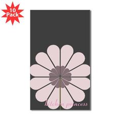 Custom Kitchen Princess Pink Flower Decal sticker. Personalize it with your own text!