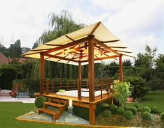 Minimalist and Modern Gazebo in The House Oriental Gazebo in garden design – artistichousedesign.com