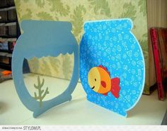 Fish bowl card- create a critter cartridge. add equation at the top Diy And Crafts, Crafts For Kids, Paper Crafts, Baby Cards, Kids Cards, Create A Critter, Ideias Diy, Shaped Cards, Cricut Cards