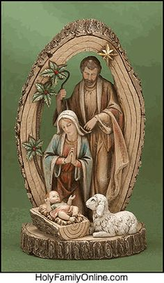 Wooden Holy Family, Christmas