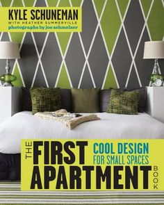 """The First Apartment Book: Cool Design for Small Spaces"". This book has lots of real-life advice for apartment dwellers (no high-flown decorator telling you to ""bump out"" a wall or invest in a crazy expensive sofa!). Easy DIY projects and actually affordable decorating ideas."